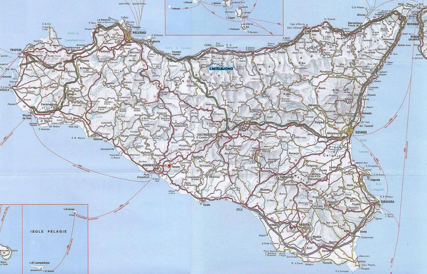 Cartina Della Sicilia Dettagliata.La Sicilia Tra Le Regioni Piu Insicure Record Di Truffe E Furti D